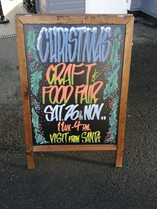 Craft fair sign