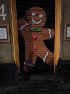 Gingerbread man graffiti