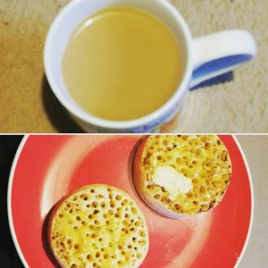 Crumpets and coffee