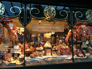 Autumn display at Bettys in Harrogate
