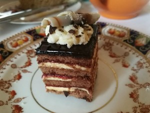 Opera cake at Acklam Hall