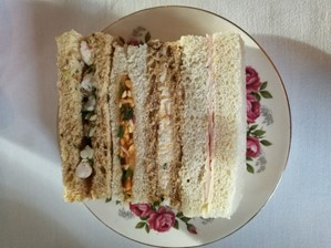 Sandwiches at Acklam Hall