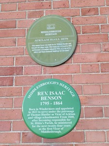 Plaques at Acklam Hall