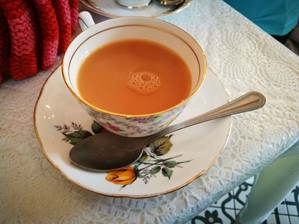 Cup of tea at Folly tearoom