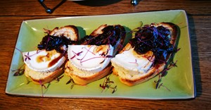 Goats cheese bruschetta at Al Forno