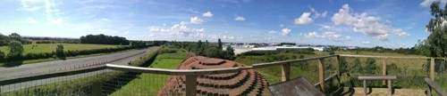 Panoramic view from top of Brick Train