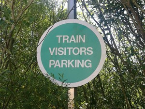 Train visitor parking