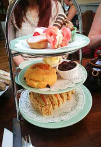 Afternoon tea at the Forteas tea room