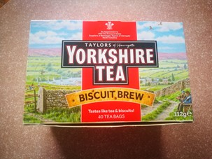 Biscuit brew box of tea