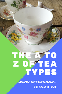 The A to Z of tea types Pinterest image