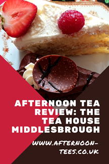 The Tea House Middlesbrough afternoon tea review Pinterest image