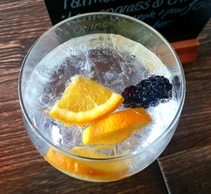 Gin and tonic at 3 Rivers