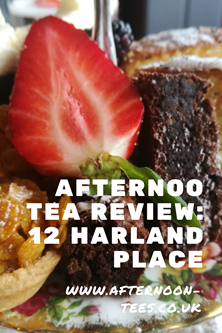 12 Harland Place afternoon tea review Pinterest image