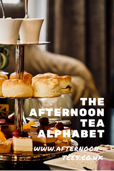 The afternoon  tea alphabet Pinterest image
